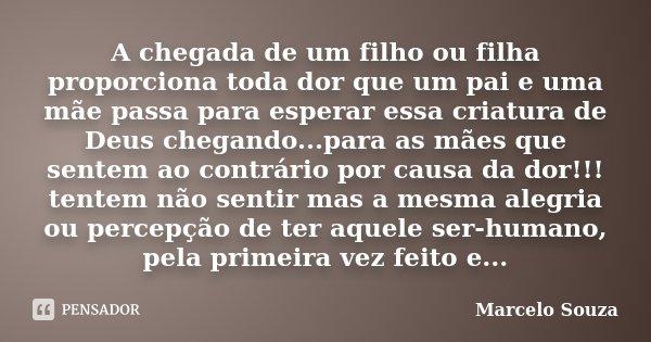 A Chegada De Um Filho Ou Filha Marcelo Souza