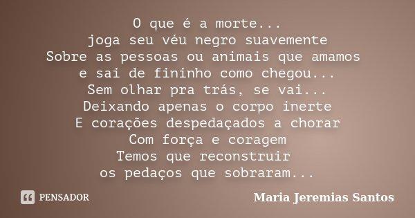 O Que é A Morte Joga Seu Véu Negro Maria Jeremias Santos