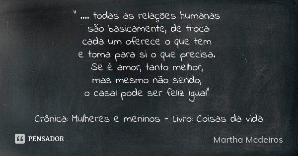 Todas As Relações Humanas Martha Medeiros