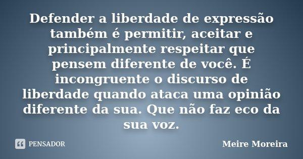 Defender A Liberdade De Expressão Meire Moreira