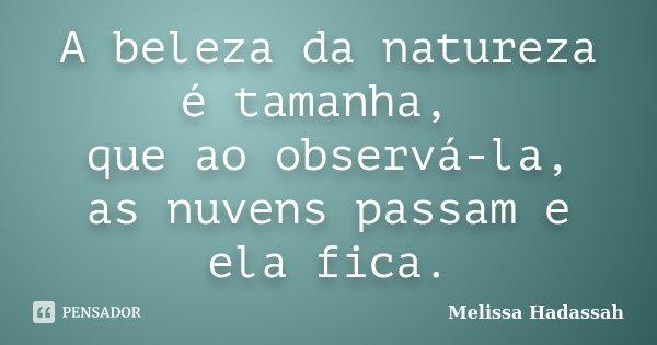 A Beleza Da Natureza é Tamanha Que Ao Melissa Hadassah