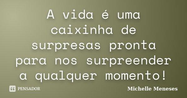 A Vida é Uma Caixinha De Surpresas Michelle Meneses