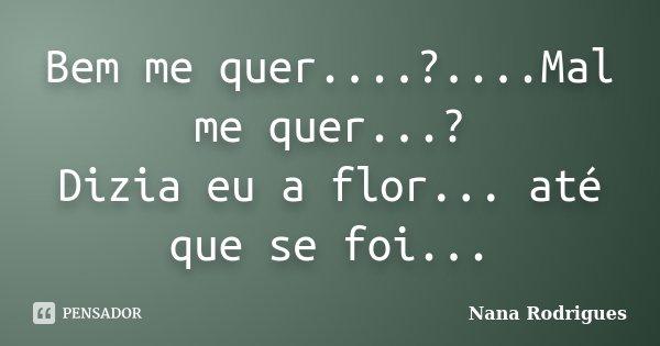 Bem Me Quermal Me Quer Nana Rodrigues