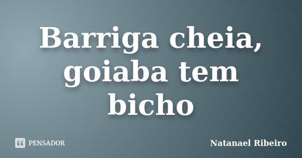 Barriga cheia, goiaba tem bicho... Frase de Natanael Ribeiro.