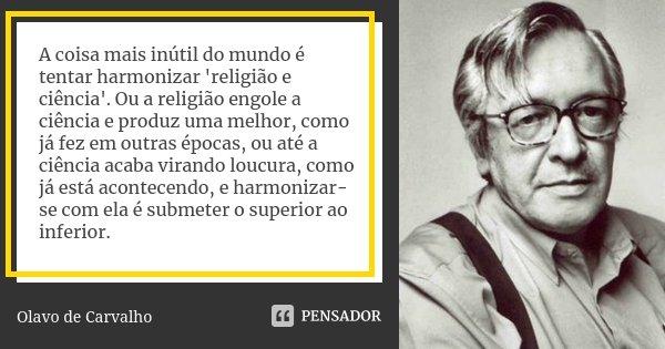 Resultado de imagem para Olavo de Carvalho religião