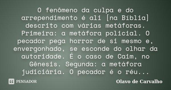 O Fenômeno Da Culpa E Do Arrependimento Olavo De Carvalho