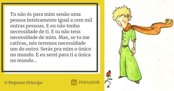 Tu Não és Para Mim Senão Uma Pessoa O Pequeno Príncipe
