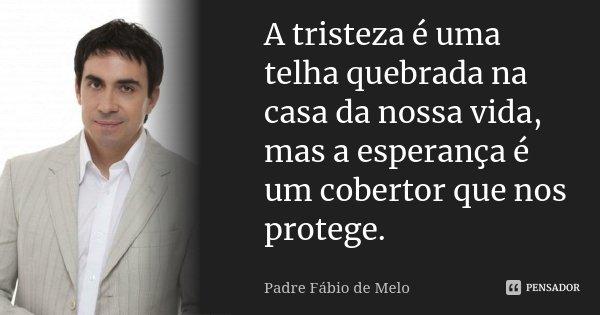 Apenas Mais Uma De Amor Padre Fabio De Melo: A Tristeza é Uma Telha Quebrada Na Casa... Padre Fábio De Melo