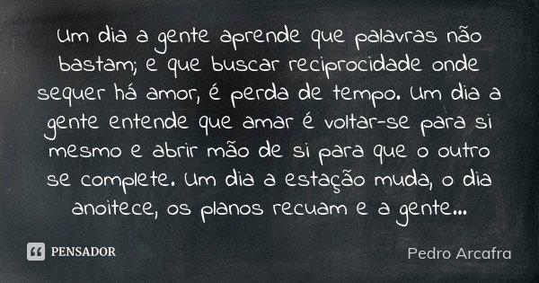 ''Um Dia A Gente Aprende Que Palavras... Pedro Arcafra