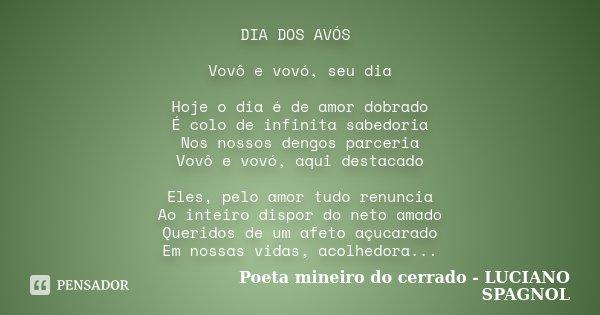Vovô Na Web Mensagens De Superação 1: DIA DOS AVÓS Vovô E Vovó, Seu Dia... Poeta Mineiro Do
