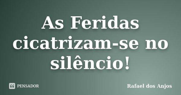 As Feridas cicatrizam-se no silêncio!... Frase de Rafael dos Anjos.