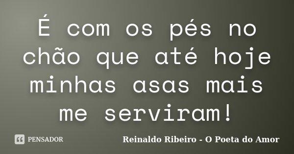 É com os pés no chão que até hoje minhas asas mais me serviram!... Frase de Reinaldo Ribeiro - O Poeta do Amor.