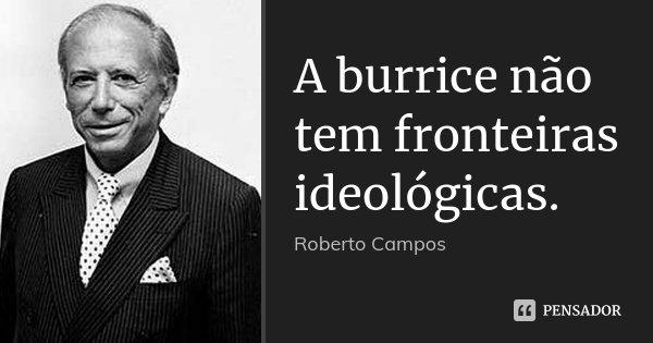 A burrice não tem fronteiras ideológicas.... Frase de Roberto Campos.