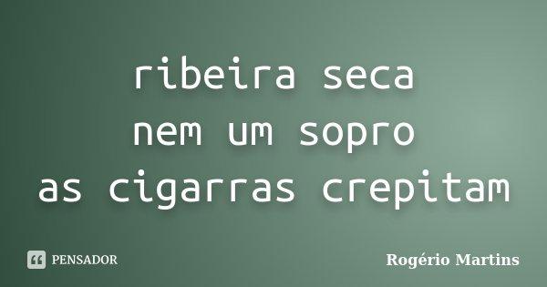 ribeira seca nem um sopro as cigarras crepitam... Frase de Rogério Martins.