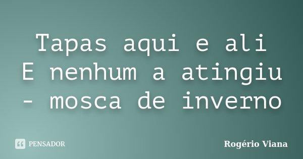 Tapas aqui e ali E nenhum a atingiu - mosca de inverno... Frase de Rogério Viana.