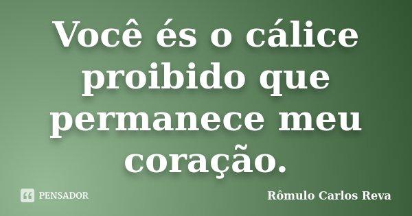 Você és o cálice proibido que permanece meu coração.... Frase de Rômulo Carlos Reva.