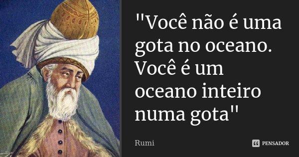 """Uma Gota No Oceano Madre Teresa: """"Você Não é Uma Gota No Oceano.... Rumi"""