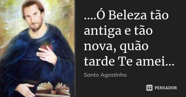 ....Ó Beleza tão antiga e tão nova, quão tarde Te amei...... Frase de Santo Agostinho.