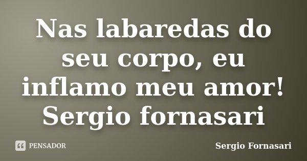 Nas labaredas do seu corpo, eu inflamo meu amor! Sergio fornasari... Frase de Sergio Fornasari.