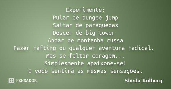 Experimente Pular De Bungee Jump Saltar Sheila Kolberg
