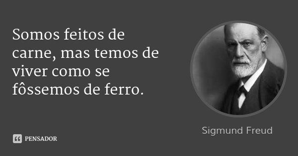Somos feitos de carne, mas temos de viver como se fôssemos de ferro.... Frase de Sigmund Freud.