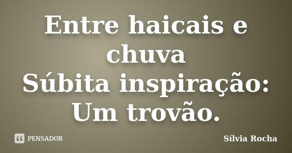 Entre haicais e chuva Súbita inspiração: Um trovão.... Frase de Sílvia Rocha.