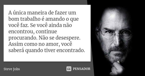 Tag Frase Steve Jobs Trabalho