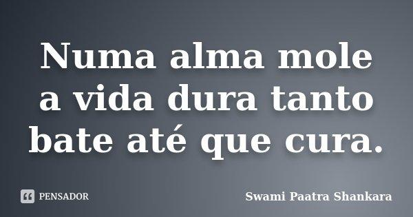 Numa alma mole a vida dura tanto bate até que cura.... Frase de Swami Paatra Shankara.