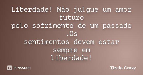 Liberdade Não Julgue Um Amor Futuro Tircio Crazy