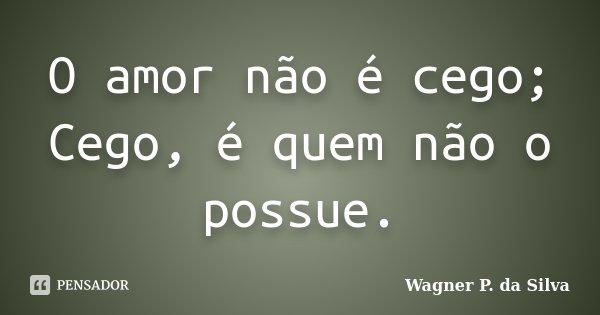 O amor não é cego; Cego, é quem não o possue.... Frase de Wagner P. da Silva.
