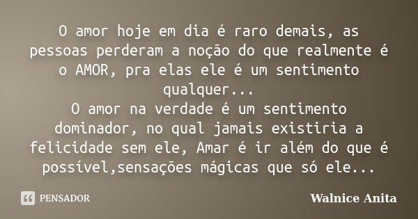 O Amor Hoje Em Dia E Raro Demais As Walnice Anita