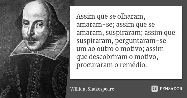 Frases da Vida William Shakespeare