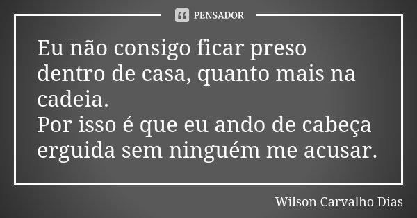 Eu Não Consigo Ficar Preso Dentro De Wilson Carvalho Dias