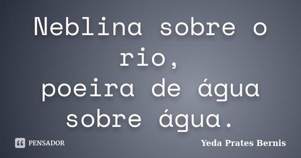 Neblina sobre o rio, poeira de água sobre água.... Frase de Yeda Prates Bernis.