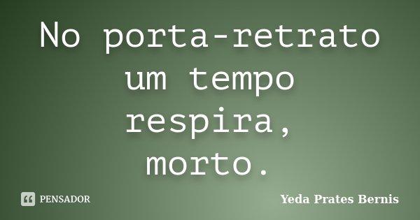 No porta-retrato um tempo respira, morto.... Frase de Yeda Prates Bernis.