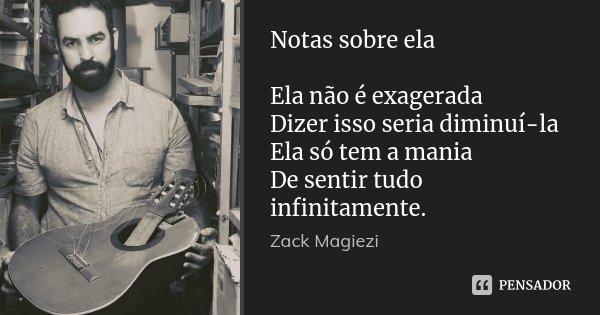 Notas Sobre Ela Ela Não é Exagerada Zack Magiezi