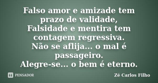 Falso Amor E Amizade Tem Prazo De Ze Carlos Filho
