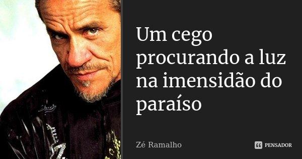 Um cego procurando a luz na imensidão do paraíso... Frase de Zé Ramalho.