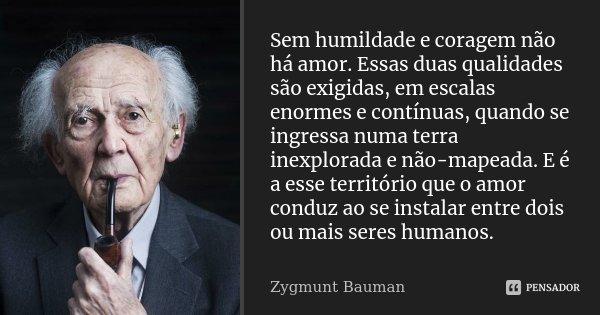 Romance No Ar 40 Frases De Amor Para Usar No Status Do: Sem Humildade E Coragem Não Há Amor.... Zygmunt Bauman