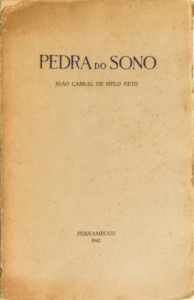 Pedra do Sono, de João Cabral de Melo Neto