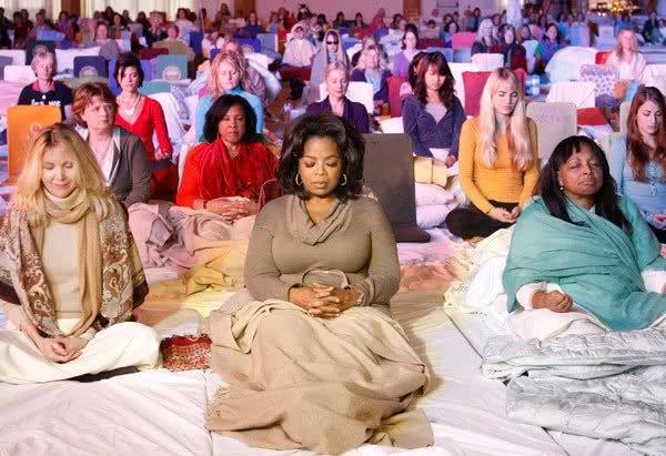 meditação, celebridades, oprah winfrey