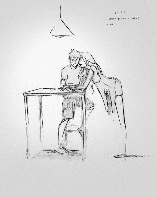 ilustrações amor dia a dia