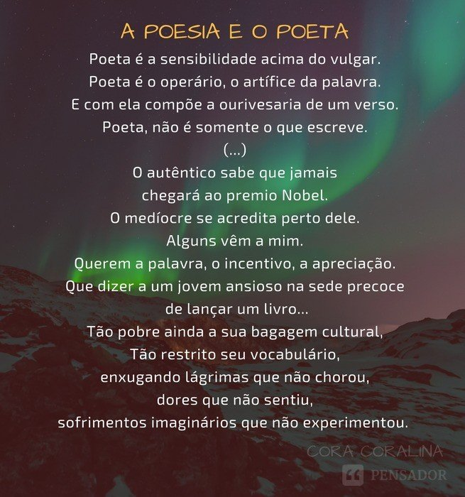 A poesia e o poeta