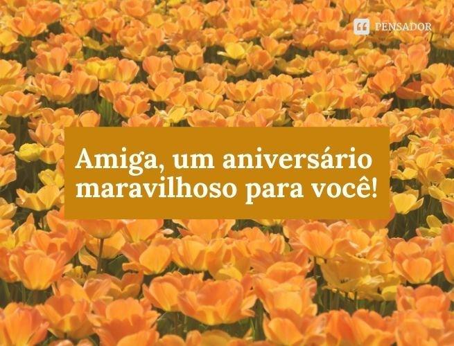 Amiga, um aniversário maravilhoso para você!