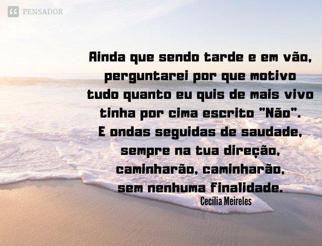 Ultima Canção, Cecilia Meireles.