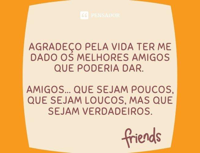 Agradeço pela vida ter me dado os melhores amigos que poderia dar. Amigos... Que sejam poucos, que sejam loucos, mas que sejam verdadeiros.