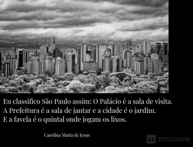 Eu classifico São Paulo assim