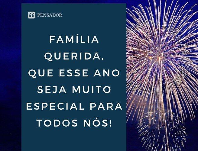 Família querida, que esse ano seja muito especial para todos nós!