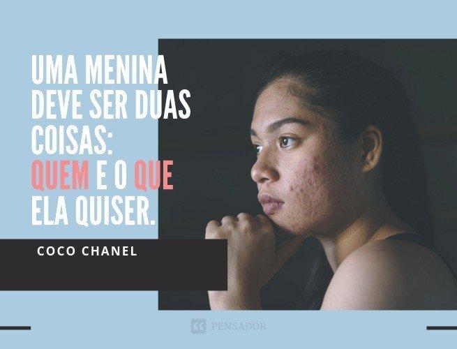 Frases obre mim  - Coco Chanel