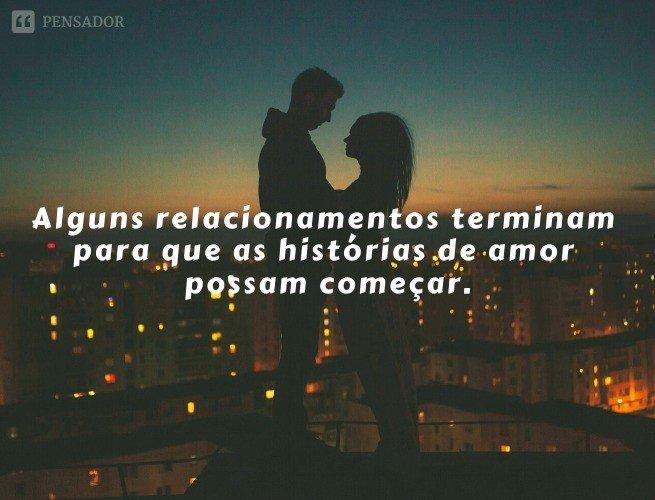 Alguns relacionamentos terminam para que as histórias de amor possam começar.
